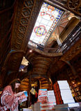 People at the bookstore Livraria Lello Stock Images