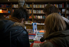 People at the bookstore Livraria Lello Stock Image