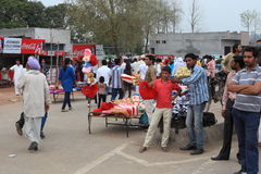 People at the Border Ceremony of Attari Royalty Free Stock Images