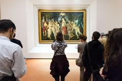 People in Botticelli room of Uffizi Gallery Stock Photography