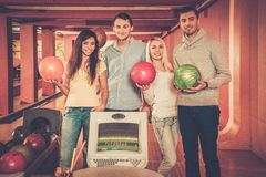 People in a bowling club Stock Image
