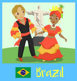 People of Brazil royalty free illustration