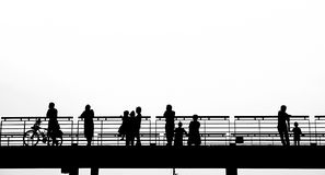 People on a Bridge Stock Images