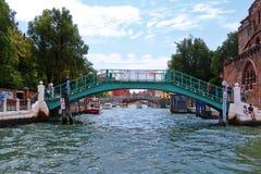 People on the bridge Fondamenta Santa Chiara. Venice, Italy Stock Images