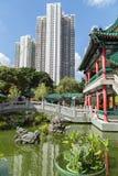 People at a bridge at the Wong Tai Sin Temple Royalty Free Stock Photography