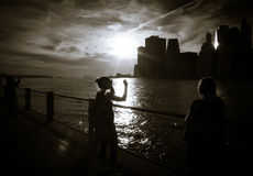 People at Brooklyn Bridge Park Royalty Free Stock Photo