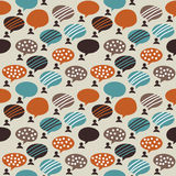 People and bubbles color seamless pattern Stock Photo
