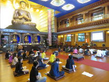 People in Buddhist temple