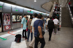 People Bugis MRT station in Singapore Royalty Free Stock Photos