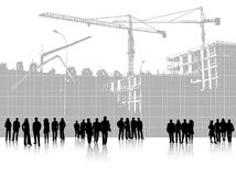 People and building site Royalty Free Stock Images