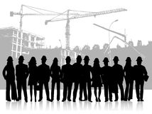People and building site Royalty Free Stock Image
