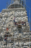 People building at the Wat joung kum temple in Lampang Thailand Stock Photos