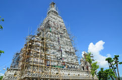 People building at the Wat joung kum temple in Lampang Thailand Stock Photo