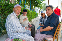 People in BUKHARA, UZBEKISTAN royalty free stock images