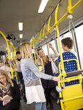 People in a bus Royalty Free Stock Photography