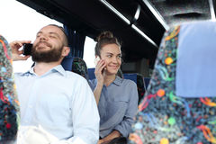 People on the bus. Stock Image