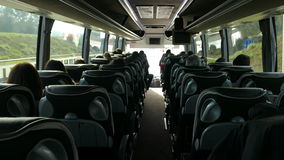 People in the bus stock video