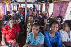 People on the bus waiting for departure. Buses in Ethiopia leave Stock Photography