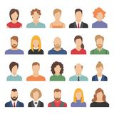 People business avatars. Team avatars working office professional young female male cartoon face portrait flat design vector illustration