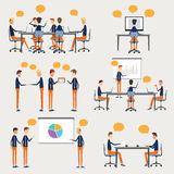 People business cartoon charater on work element Stock Photography