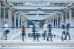 People in business center. Group of people in business center, blurred image royalty free stock photos