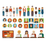 People business characters set Royalty Free Stock Photography