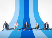 People and Business Competition Concepts Stock Photography