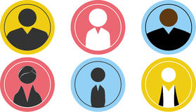 People business icons. Fat, slim and young Royalty Free Stock Images