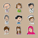 People in business icons set cartoon Stock Photo