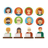 People business icons Stock Photography