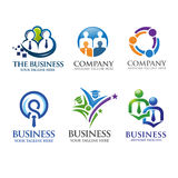 People business and leadership logo Stock Photography