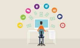People business make money idea online concept background Stock Image