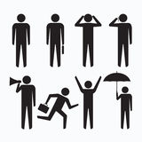 People business man icons symbol sign Stock Photos