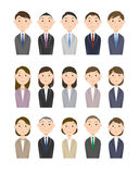 People business. Business people man and woman, young and veteran Stock Images