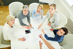 People in business meeting looking Royalty Free Stock Photography