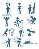 People in business set stock illustration