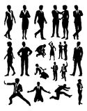 People Business Silhouettes. A business people silhouettes set Stock Images