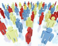 People - business team concept. Crowd of colorful people - business team concept Stock Photo