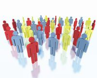 People - business team concept. Crowd of colorful people, concept of business team Stock Images