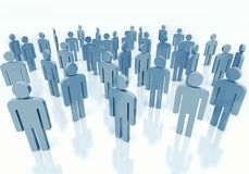 People - business team concept. Gray crowd of people, concept of business team Stock Photography