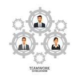 People business teamwork gears collaboration poster Royalty Free Stock Image