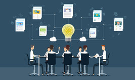 People Business Teamwork Meeting And Brainstorm Royalty Free Stock Images
