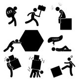 People Business Work Tough Burden Anger Difficult Workplace Hurdle Obstacle Roadblock Frustration Concept Icon Symbol Sign Royalty Free Stock Photo