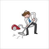 People Businessman vacuum cleaner Stock Photos