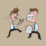 People Businessmen crazy royalty free illustration
