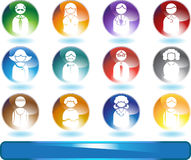 People Buttons - round Stock Images