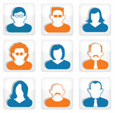People buttons (social icons) Royalty Free Stock Image