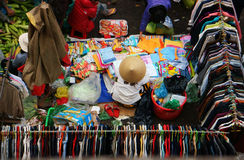 People buy and sell clothes at market. DA LAT, VIET NAM- FEBRUARY 8, 2013 Stock Photo