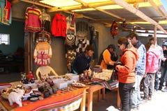 People buy souvenirs in Salar de Uyuni, Bolivia Royalty Free Stock Photo