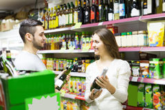 People buying beverages Stock Images